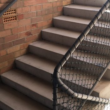 One set of the concrete stairs