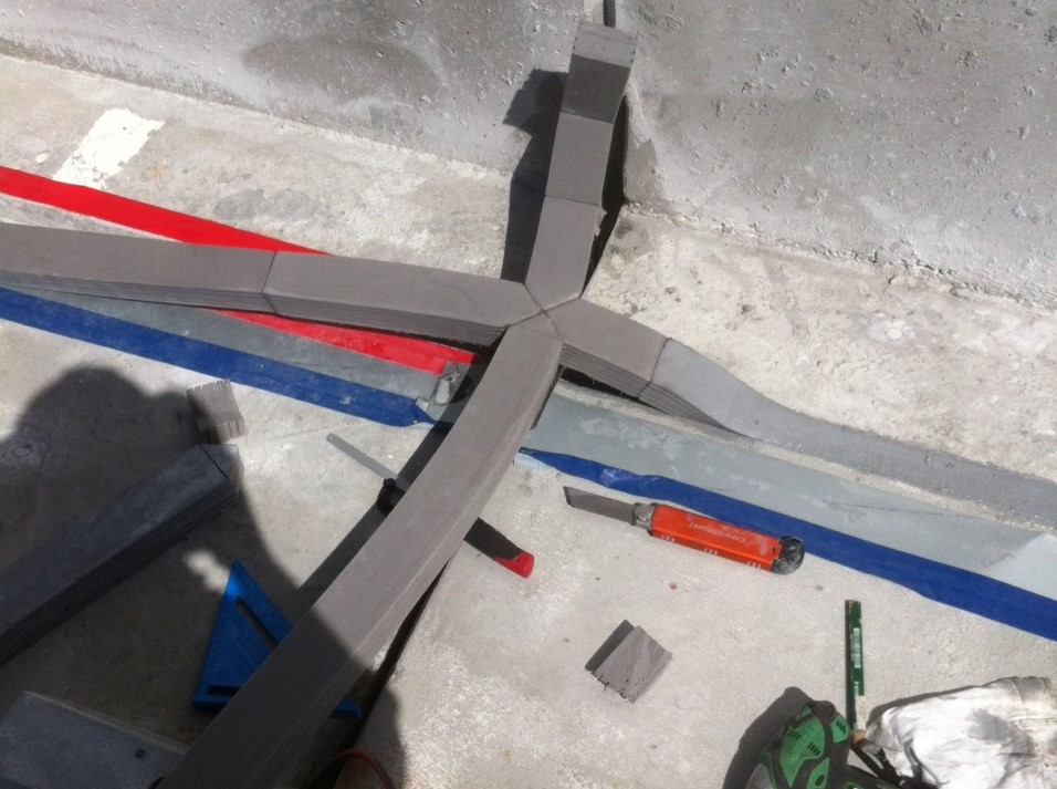 Belmont expansion joint insertion