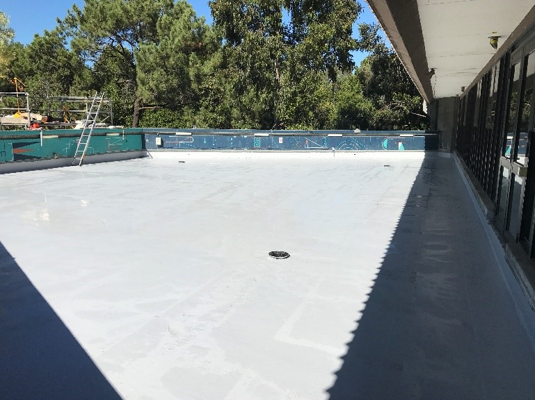Completion of the five-layer waterproofing system
