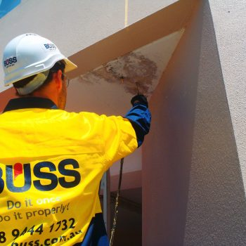 Crack injection repairs underway