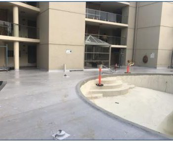 seashell apartments finished waterproofing concrete