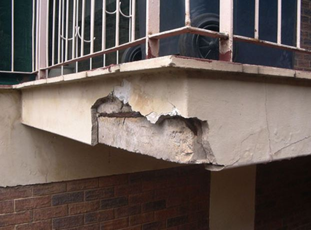 leaking balcony