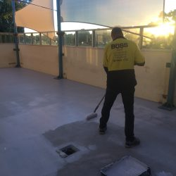 2 new waterproofing membrane applied