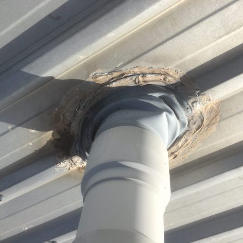 Failed seal on roof penetration