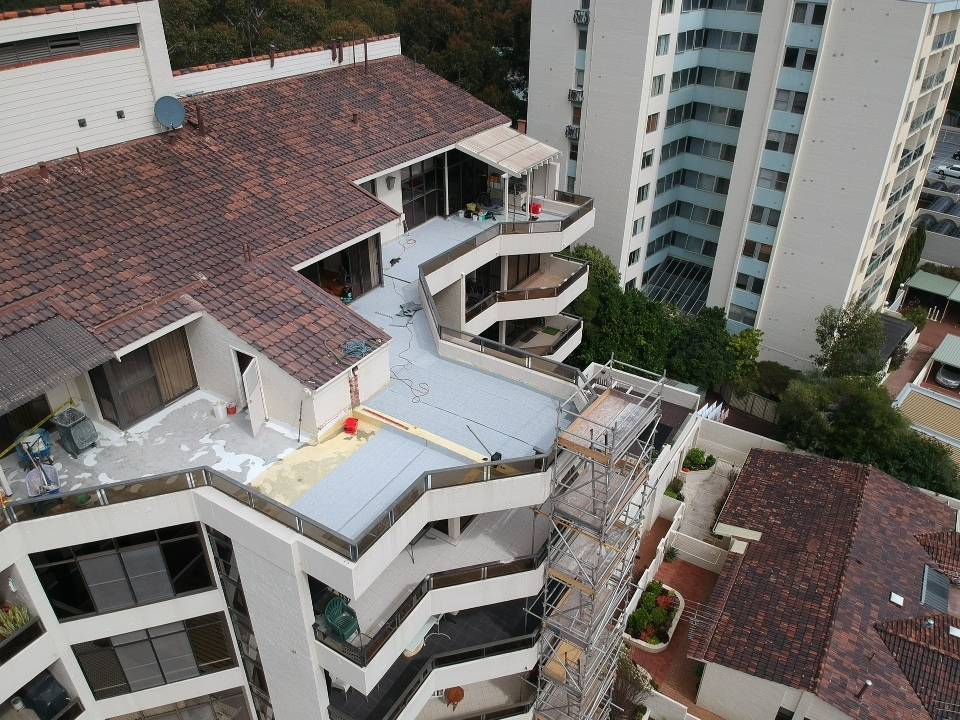 3. Overhead view new waterproofing system