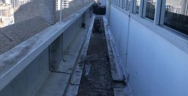 Image 1. Before works completion North side of balcony 1