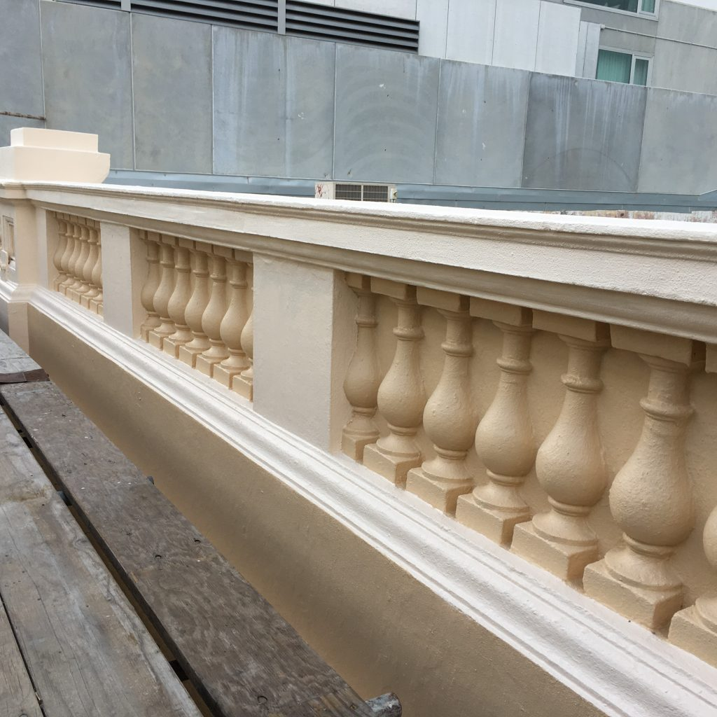 Image 3. Repairs completed to balustrade