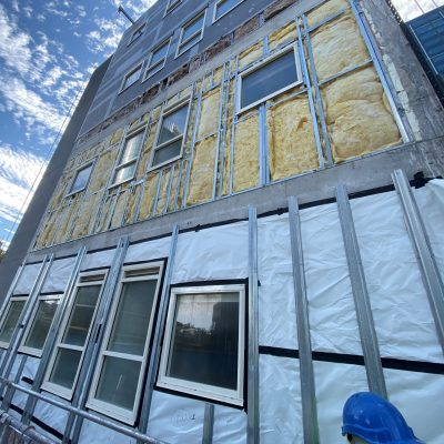 Pic 3 installation of new insulation and sarking